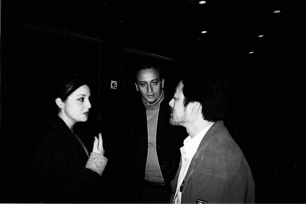Roberta Torre con Shigeru Umebayashi Tokyo Film Festival 2003
